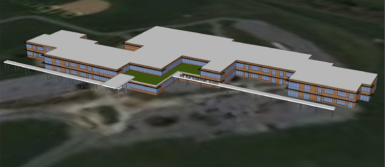 Rendering of New Doe Run Elementary School